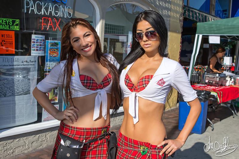 Tilted Kilt Girls<br /> Belmont Shore Car Show 2013