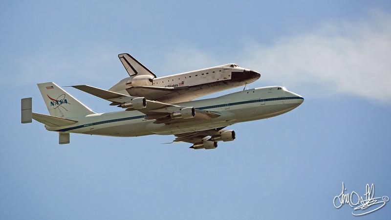 Space Shuttle Endeavour's final piggyback flight<br /> Long Beach, CA