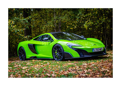 McLaren 675 LT Spider in the woods