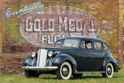 1936 Packard Six and Gold Medal Flour sign, New Kensington, PA.