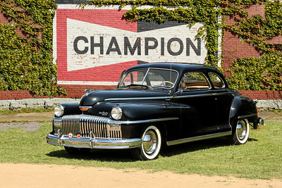 1948 De Soto and Champion Spark Plug sign, Ridgeway, PA.