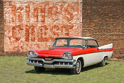 1957 Dodge Custom Royal and King's Crest sign, Cleveland, OH.