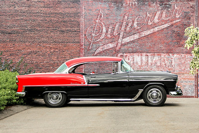1955 Chevrolet Bel Air and Superior Union Made Clothing, Pittsburgh, PA.
