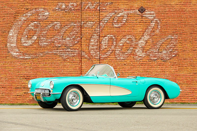 1956 Corvette and Coca Cola sign, Swissvale, PA.