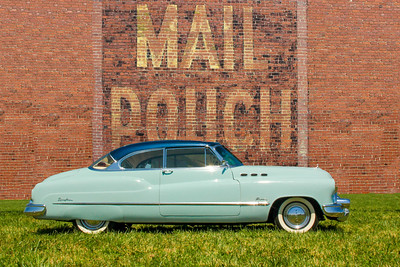 1950 Buick Super Riviera and Mail Pouch sign, Charleroi, PA.
