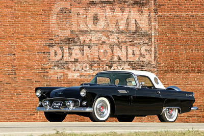 1956 Ford Thunderbird and Crown Diamonds sign, New Kensington, PA.