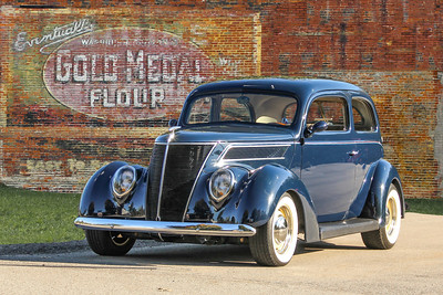 1937 Ford and Gold Medal Flour sign, New Kensington, PA.