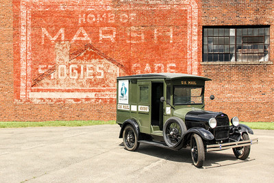 1929 Ford Mail Truck and Marsh Stogies, Wheeling, WV.