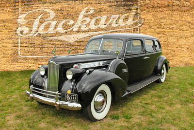 1940 Packard 180 and Parkard sign, Cleveland, OH.