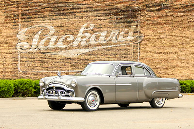 1951 Packard 200 and Packard sign, Cleveland, OH.