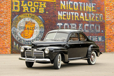 1942 Ford Business Coupe and Bloch Brothers Tobacco sign, Carnegie, PA.