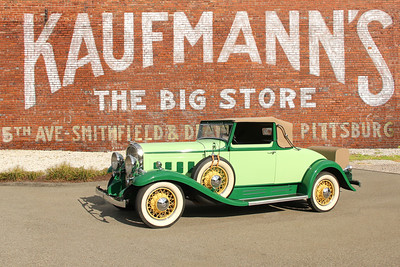 1932 Franklin Airman and Kaufmann's Department Store sign, Tarentum, PA.