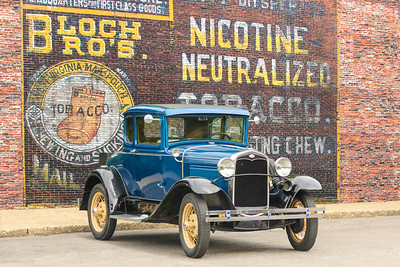 1931 Ford Model A Deluxe Coupe and Bloch Brothers Tobacco, Carnegie, PA.