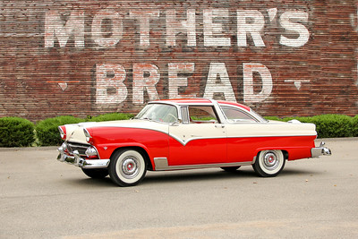 1955 Ford Fairlane and Mother's Bread sign, Pittsburgh, PA.