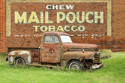 1949 Ford F1 Pickup and Mail Pouch sign, Butler, PA.