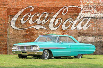 1964 Ford Galaxie and Coca Cola sign, Tarentum, PA.