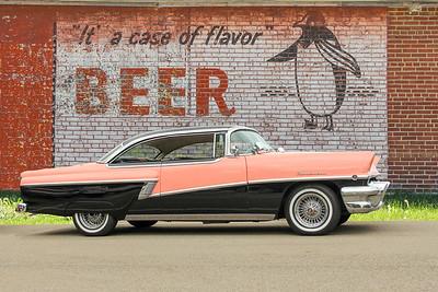 1956 Mercury Montclair and Beer sign, Harrisburg, PA.