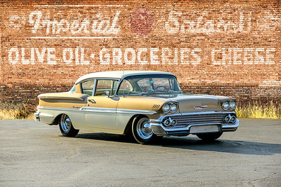 1958 Chevrolet Biscayne and Imperial Salami sign, Pittsburgh, PA. .