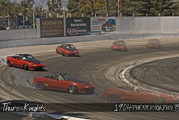 Thurs Knights Drift Event held at the National Orange Show Center Speedway on April 5, 2009. There was a good turn out considering there was another compitition at Willow Springs the same day.