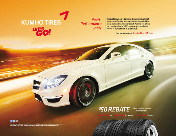 Kumho Tires National Magazine Ads