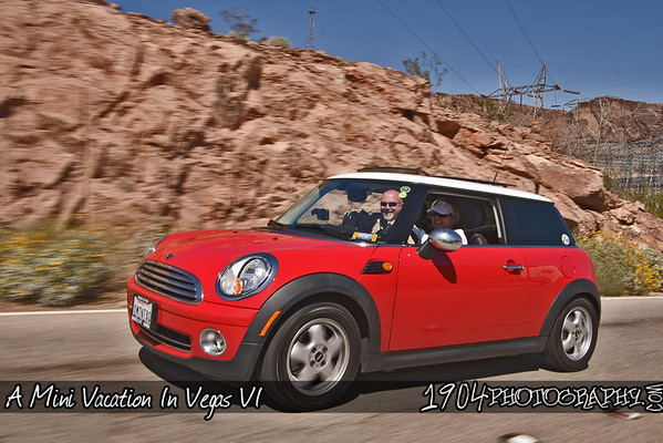 Over 100 Minis headed out from Palace Station and AMVIV: A Mini Vacation In Vegas for the Temple Bar Blitz Run that headed out into Arizona, over the Hoover Dam and onto the Temple Bar Marina