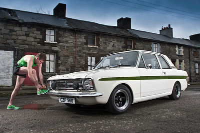 Olympic runner Shane Healy and his Ford Cortina...