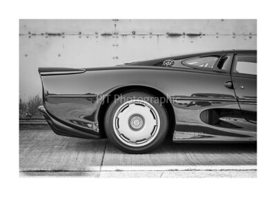 Jaguar XJ220 Rear Detail Black and White