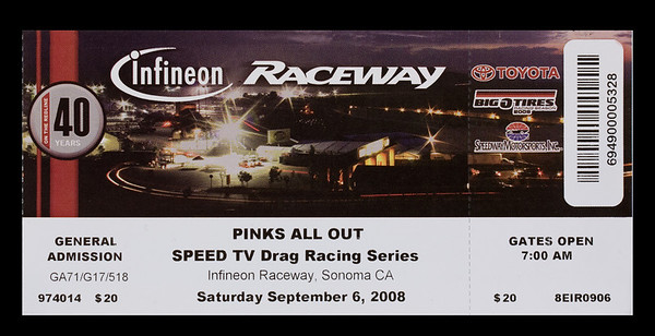 Pinks All Out At Infineon Raceway