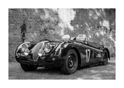 Jaguar XK120 Black and White