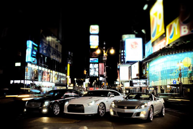 image 1, final version: Cadillac CTS-V, Nissan GT-R, Saturn Sky Redline