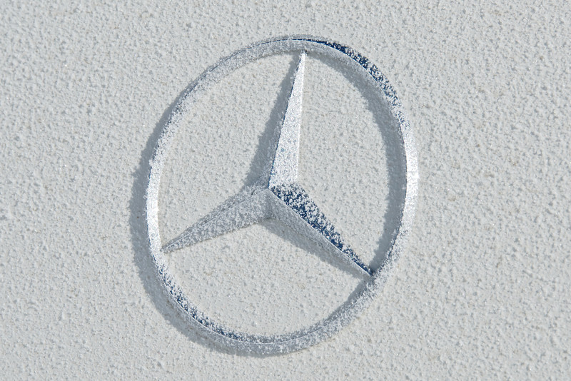 Icy Mercedes Benz Logo