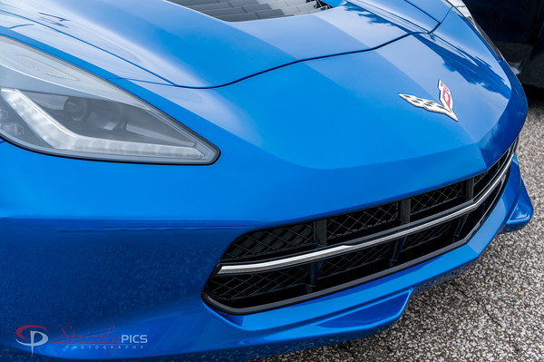 Supercars- Blue Corvette front clip