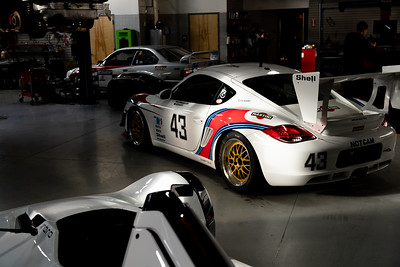 Morning Sunlight casting onto the Martini Porsche