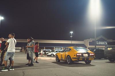 Late Night Car Meetup in Utica