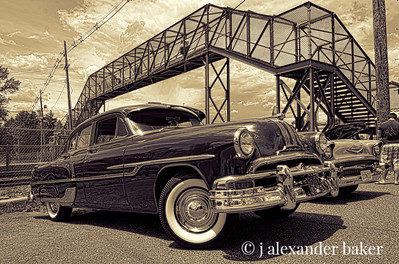 My Grandfather's car, 1953 Pontiac - Sepia
