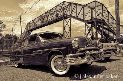 My Grandfather's car, 1953 Pontiac - Sepia