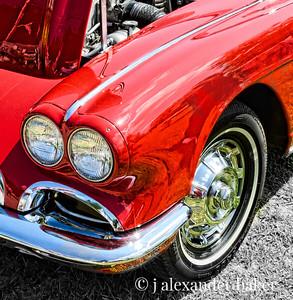 1962 Corvette - headlight and fender detail