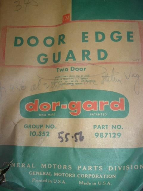 1955 1956 Chevrolet Pontiac door edge guards 987129 (a 987129)