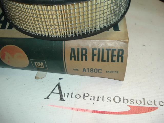 65 66 67 Pontiac 400 421 original style nos AC air filter 6420137 (a 180c)