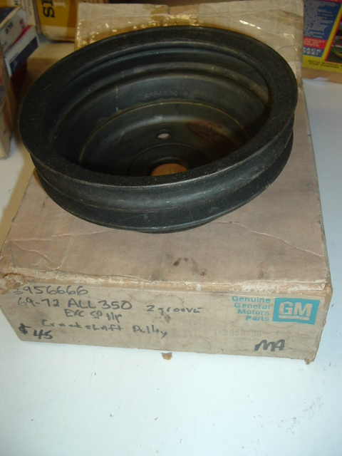 View Product1969 -72 chevrolet 396 350 CrankShaft pulley nos 3956666 (a 3956666)