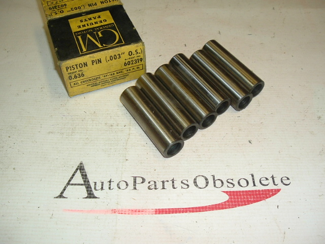 53 Chevrolet 6 piston pins nos 602319 4882 (a602319)
