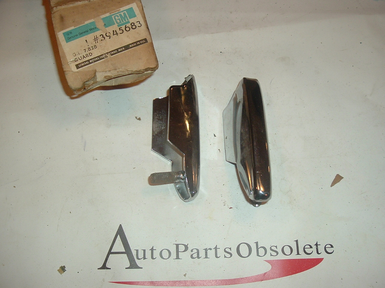 1969 Chevrolet standard front bumber guards pair