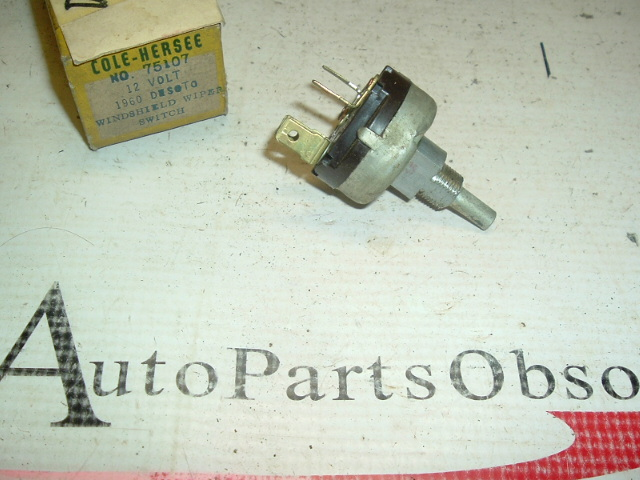 1960 Dodge Desoto windshield wiper switch (a 75107)