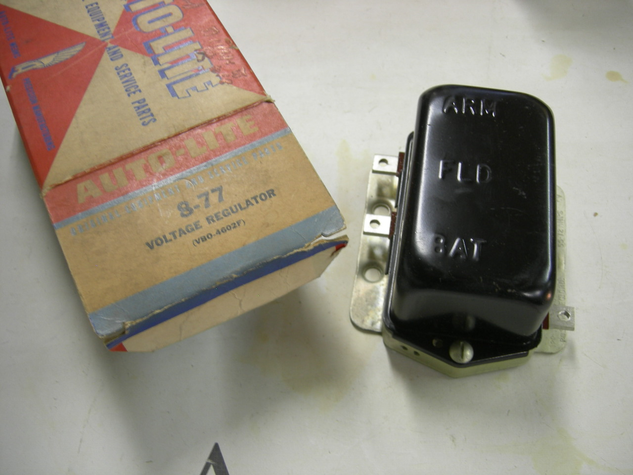 1950 – 51 Chrysler & Imperial voltage regulator NOS VBO-4602F (a VBO-4602F 8-77)