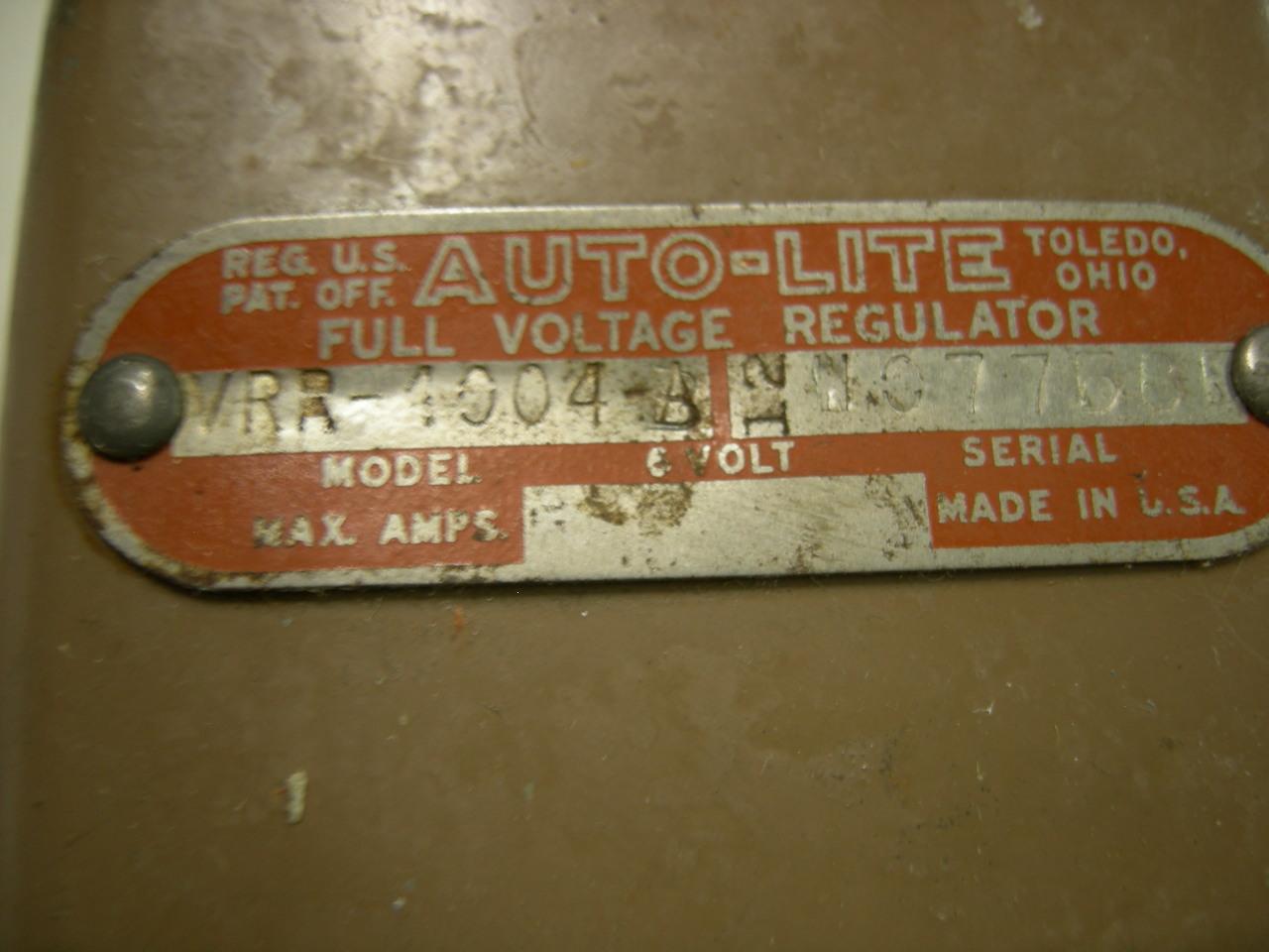 1940 – 42 Willys voltage regulator autolite NOS VRR4004A (a VRR4004a)