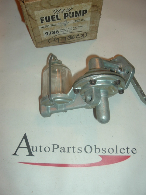 1951 52 Ford & Truck 6cyl glass bowl fuel pump (9786c)