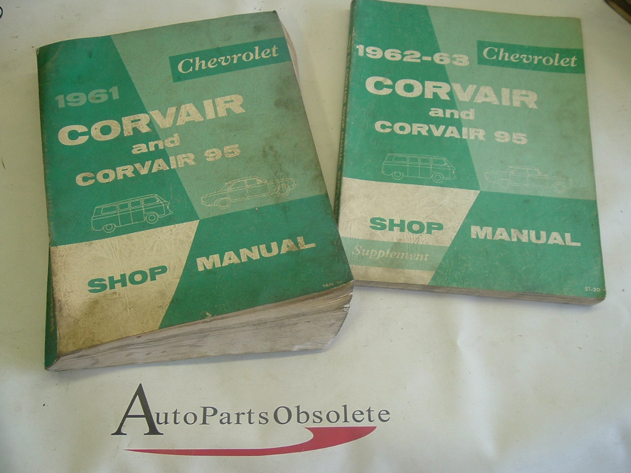 1961 62 63 Chevrolet Corvair shop manual & Supplements (A corv&sup)