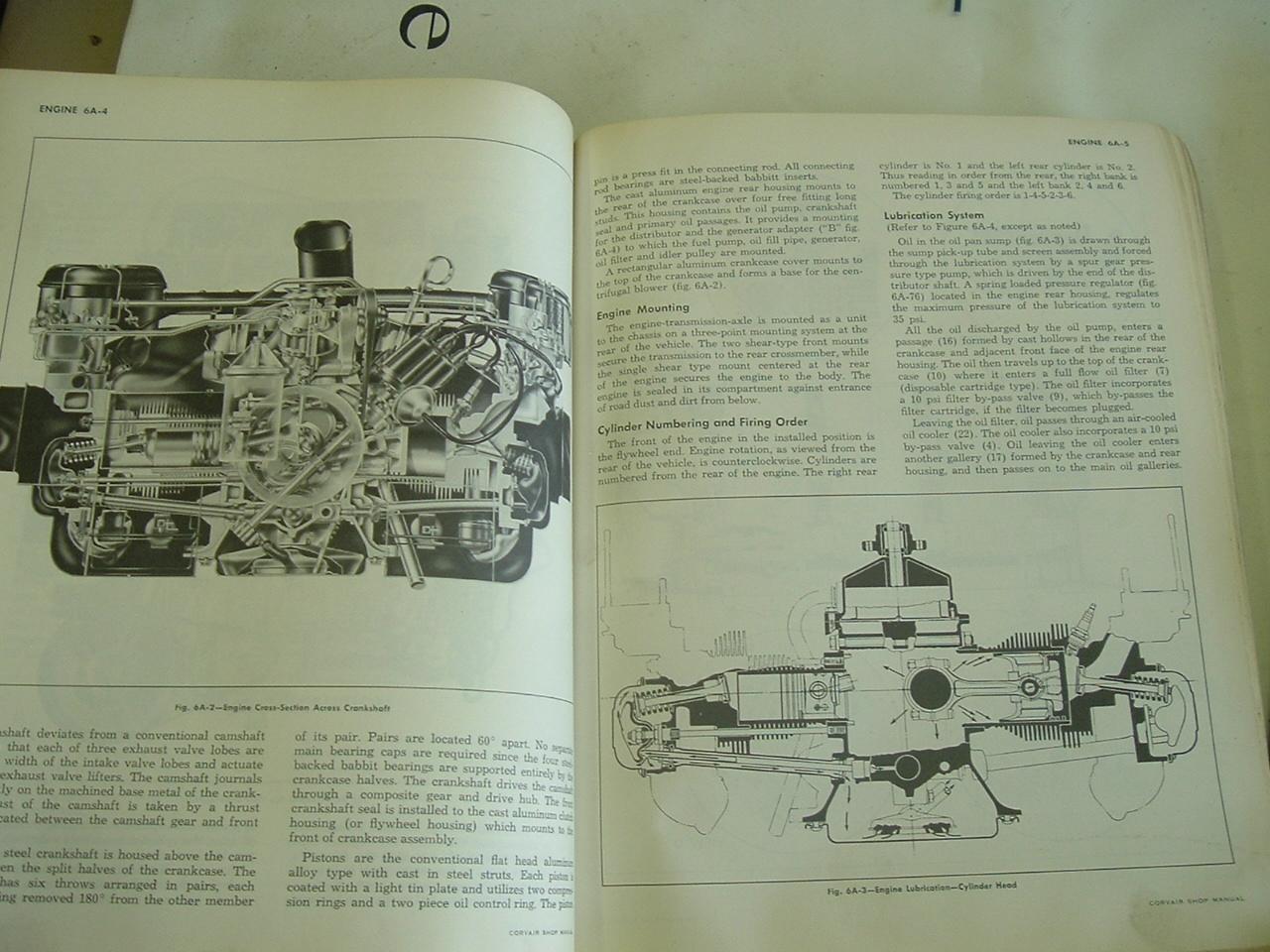 1961 62 63 Chevrolet Corvair shop manual & Supplements (A corv&sup)