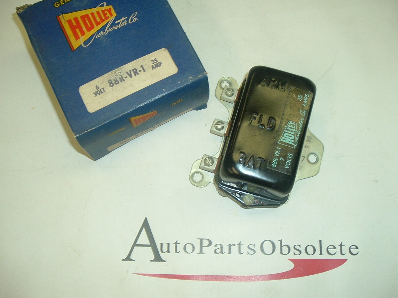 1950 51 52 53 54 55 Ford Mercury Lincoln voltage regulator Holley Brand 6v (a 88-vr-1)