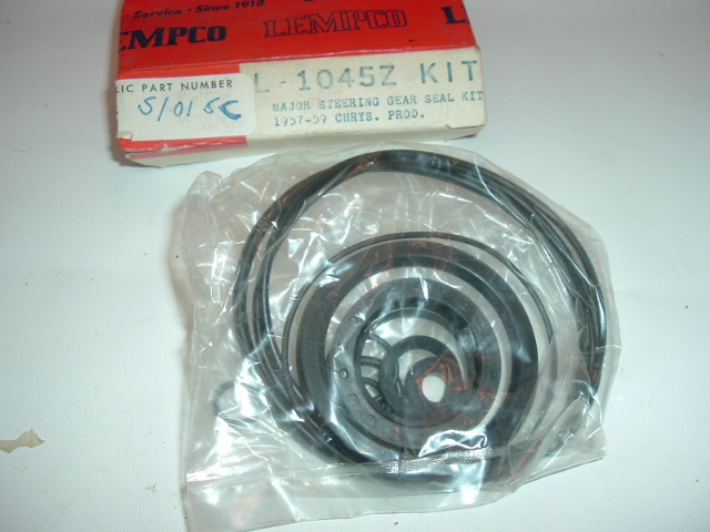 1957-59 Chrysler Steering Gear and Seal Kit NEW (A S1015C L1045C)